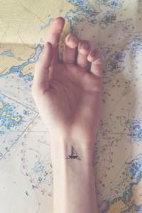 Minimal-Shipp-Tattoo-On-Wristtattooideas